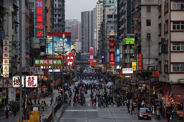 香港街景。圖/取自美聯社