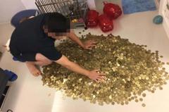 一天存5枚50元硬幣達35.4萬 網友一看嚇傻:恐三分之一是假的