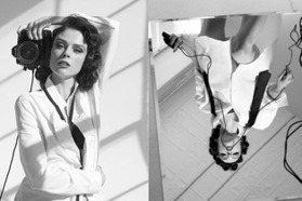 黑白色調也掩蓋不住的性感俐落!Pose女王Coco Rocha新畫報 用中空工裝突破男女裝界線