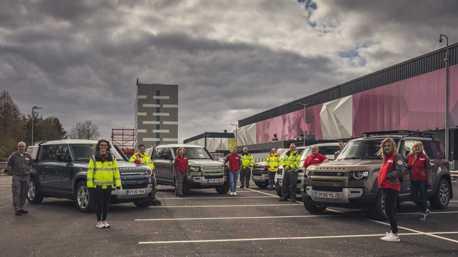 載送抗疫物資讓專業的來! Jaguar Land Rover支援160台車