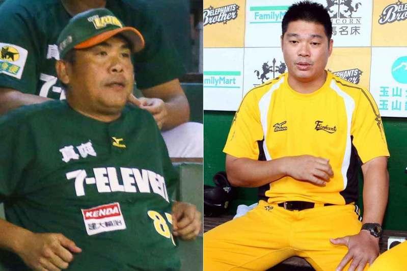 陳連宏(左)和陳瑞振(右)都是首次接任總教練就拿下總冠軍,而且那時他們也都是剛離開球員生涯沒有多久。 聯合報系資料照片