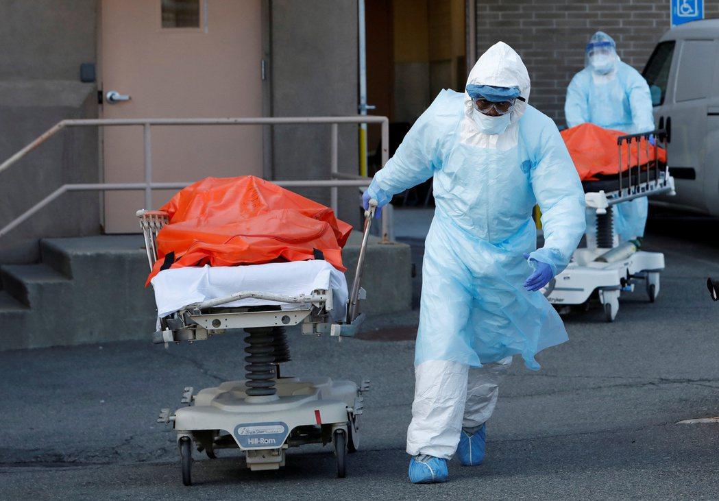 美國紐約州新冠肺炎疫情嚴重。路透