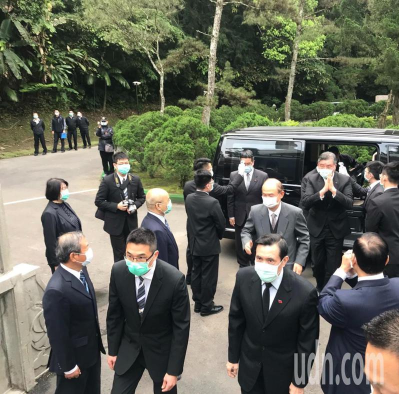 前總統馬英九上午到慈湖謁陵。記者鄭國樑/攝影