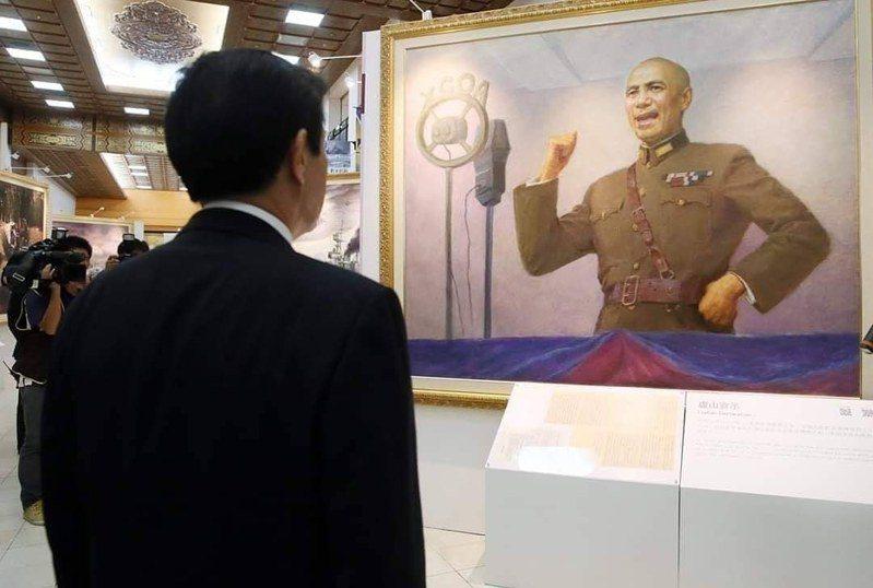 前總統馬英九緬懷已故的前總統蔣中正。圖/翻攝馬英九臉書