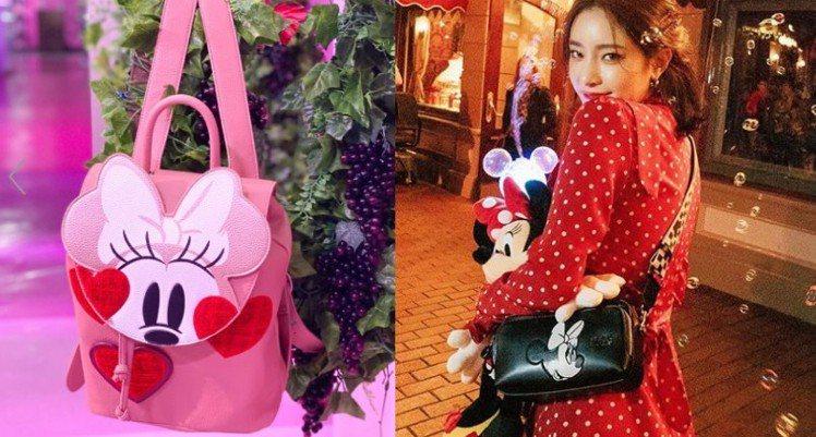 韓國品牌Stretch Angels最近也推出一款米妮主題的相機包,黑、紅兩色的...