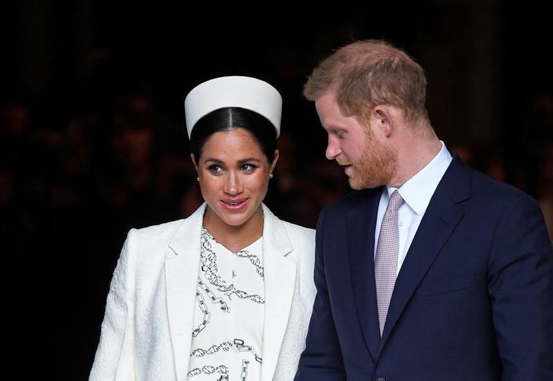 哈利王子、梅根。圖/路透資料照片