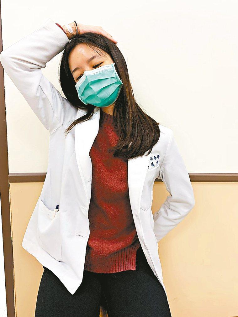 頸部拉筋運動(圖3) 圖/台北醫學大學新國民醫院職能治療師葉芳瑜