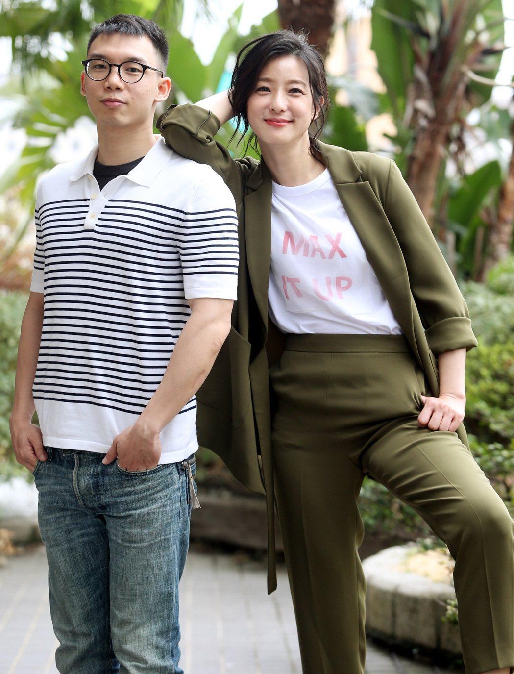 「逃出立法院」導演王逸帆(左)、女主角賴雅妍。記者侯永全/攝影