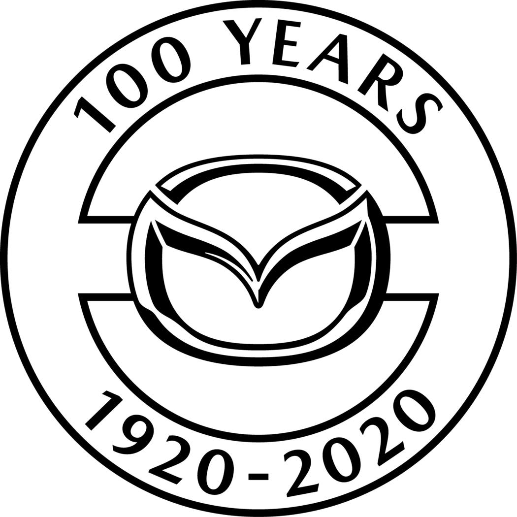 MAZDA100週年紀念特別標誌。 圖/台灣馬自達提供