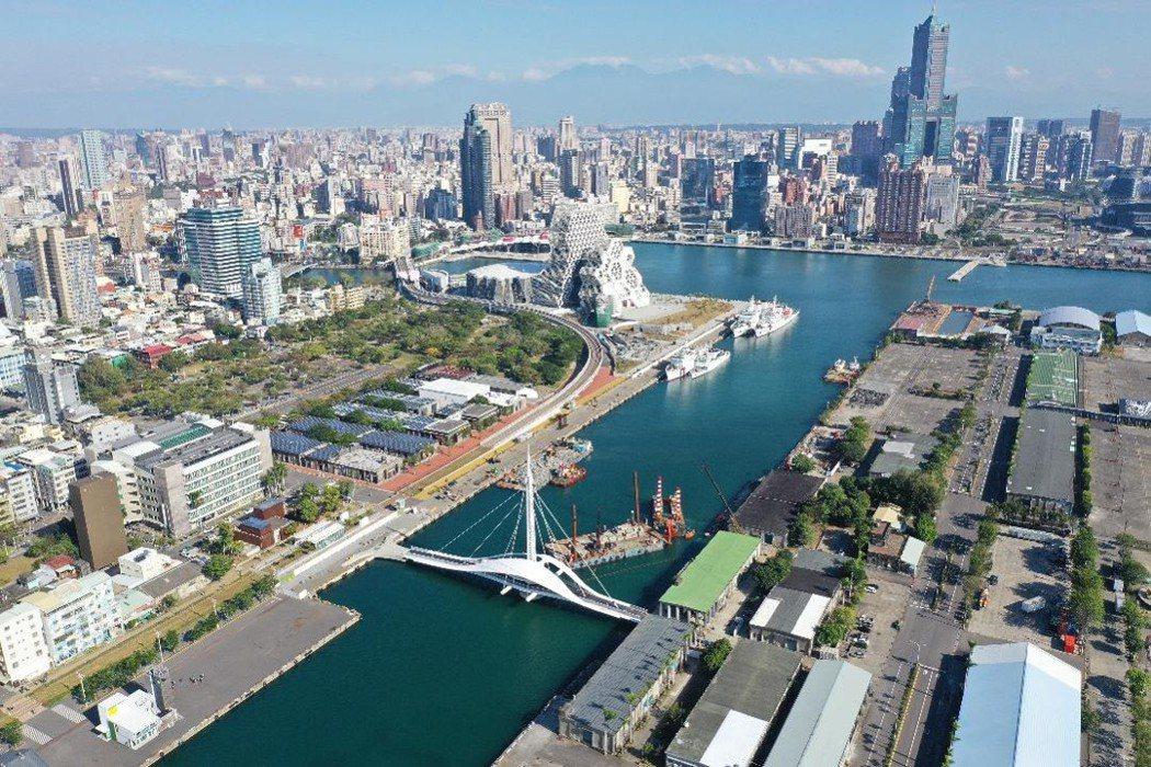 亞洲新灣區港埠商業區及8-10號碼頭。 高市府都發局/提供