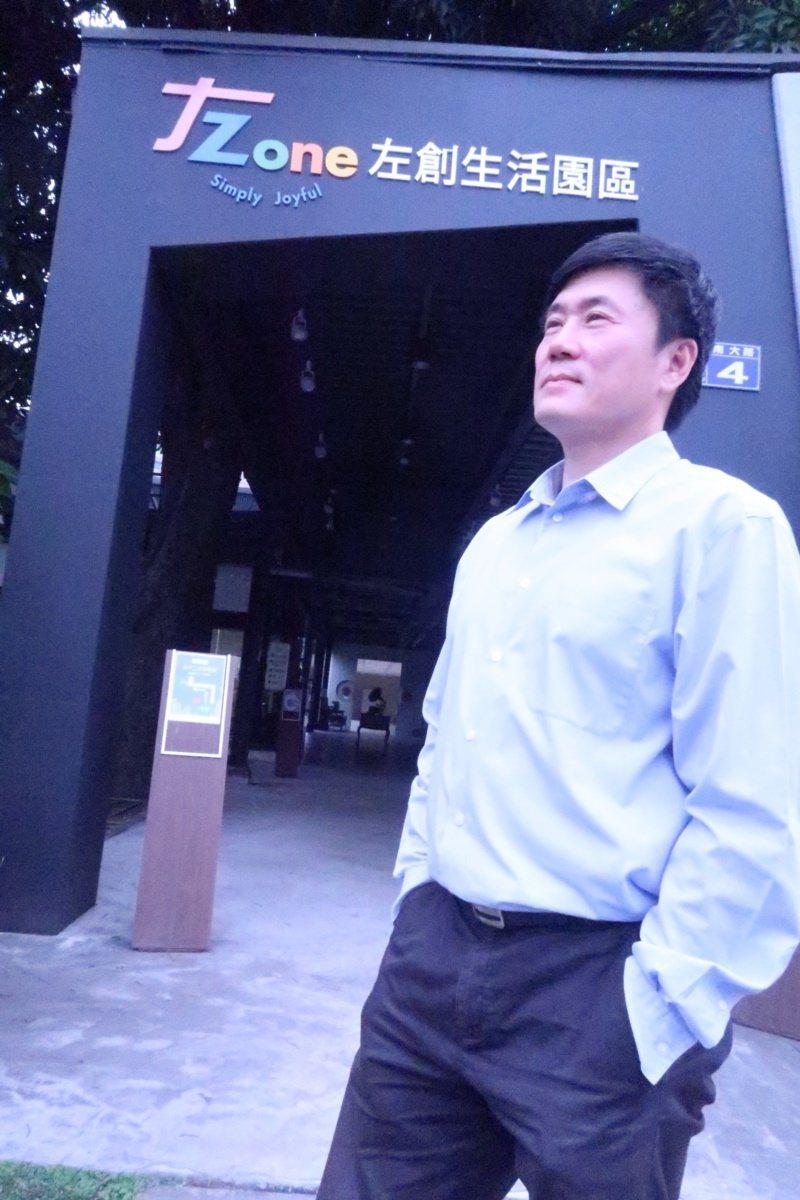 56歲的橘世代李財明打造「左創生活園區」,讓來客從身體到心靈都得到放鬆。 圖/徐...