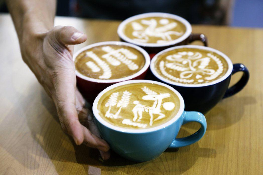 圖為在中國販售的咖啡。 圖/歐新社