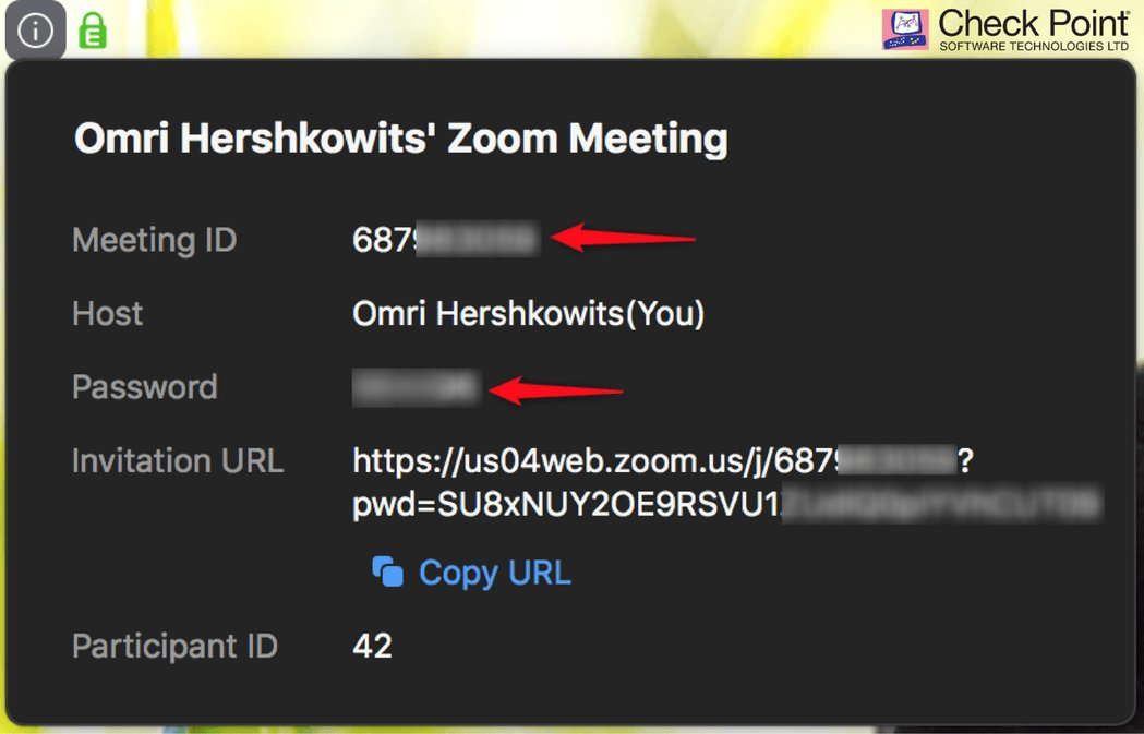 除了顯示使用者ID外,使用者在進入會議前也被要求輸入密碼,以提供會議足夠的安全性...