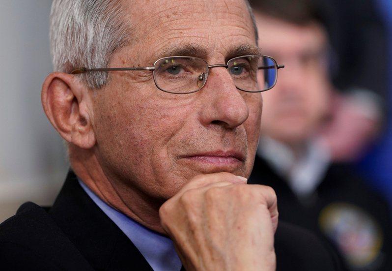美國白宮抗疫團隊首席佛奇。路透