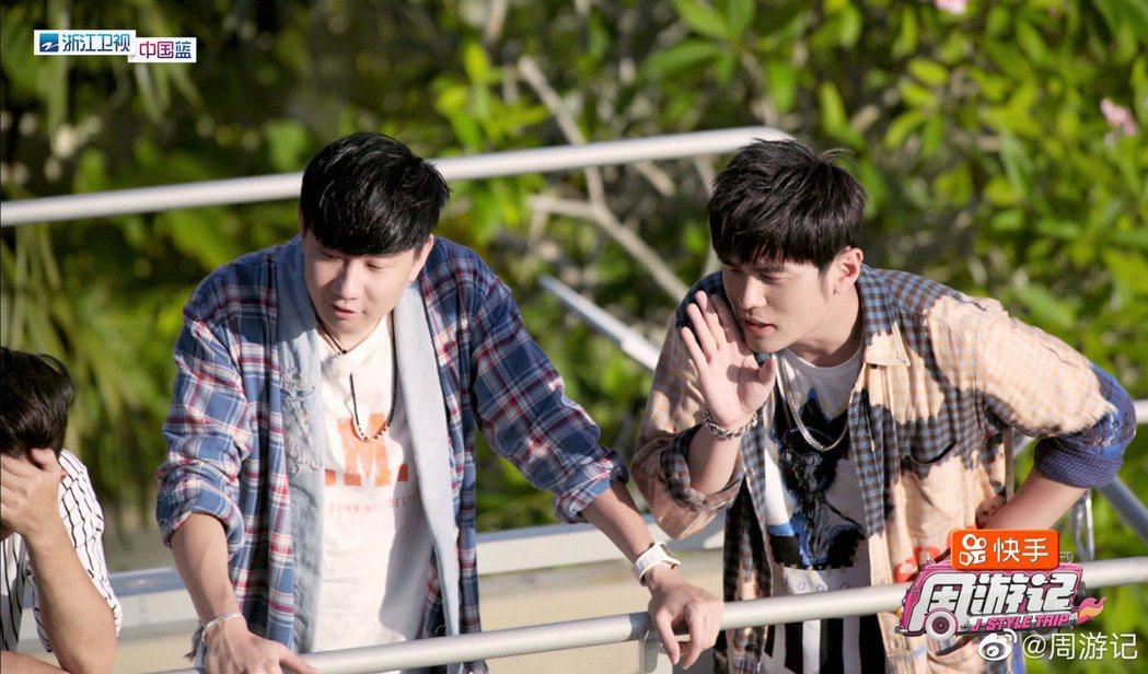 林俊傑(右)擔任周董「周遊記」的嘉賓。圖/摘自微博