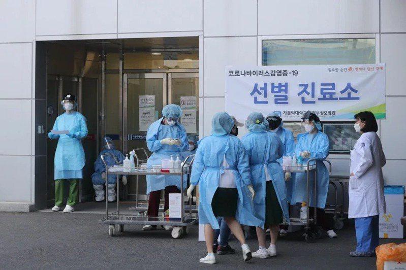 南韓新冠肺炎確診案件數逐漸趨緩。歐新社