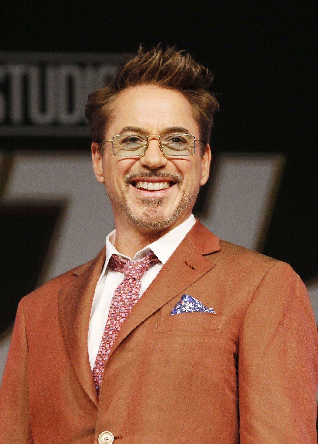 小勞勃道尼因為演出「鋼鐵人」一角受到許多影迷喜愛。(歐新社資料照片)