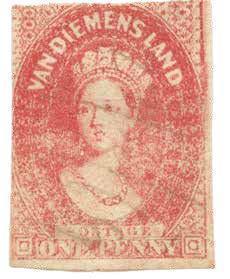 郵票圖案以瑞士藝術家沙隆於1837年繪製的維多利亞女王像為依據。照片提供/比約恩‧貝爾智