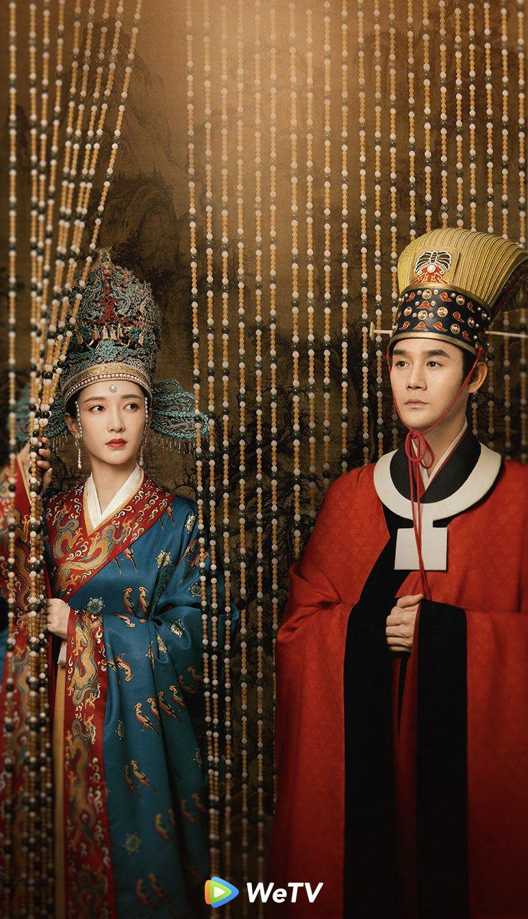 王凱(右)與江疏影主演古裝大劇「清平樂」。圖/WeTV提供