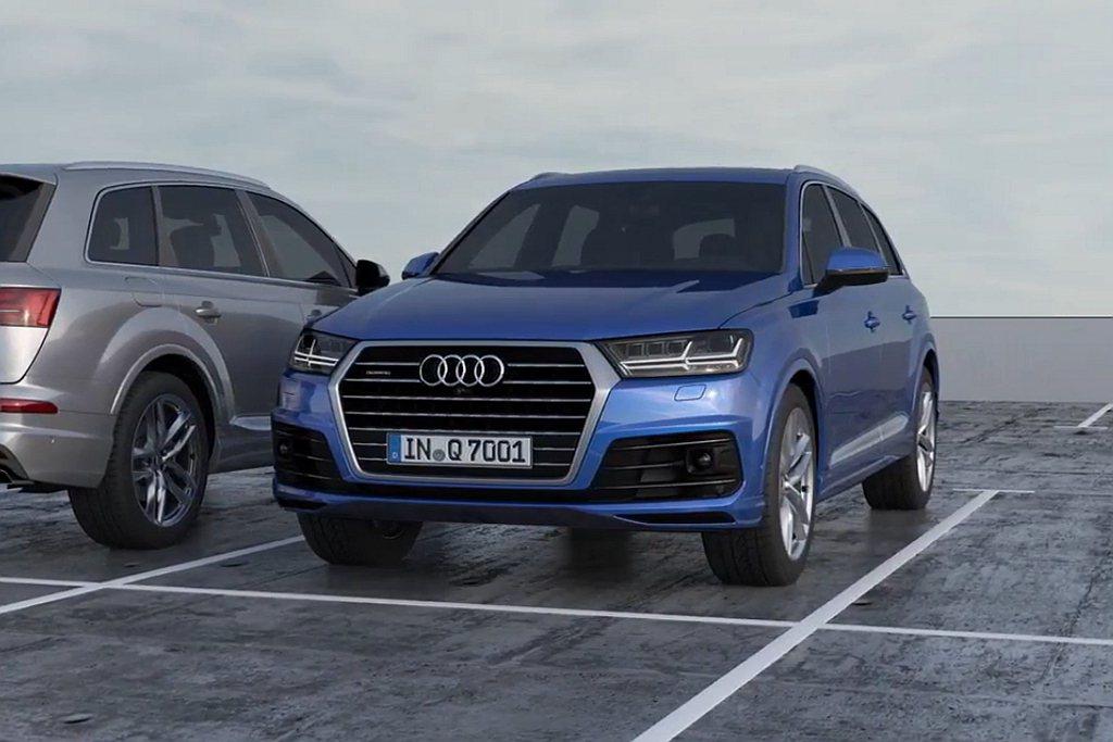 Audi Q7 S line進化版搭載「動態全輪轉向系統」,後軸轉向系統在協作的...