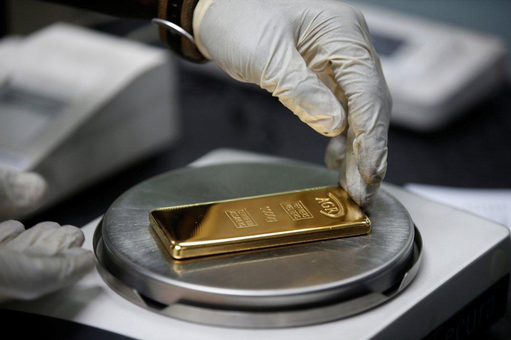 黃金價格因投資人避險意識高漲,繼續上揚。   (路透)