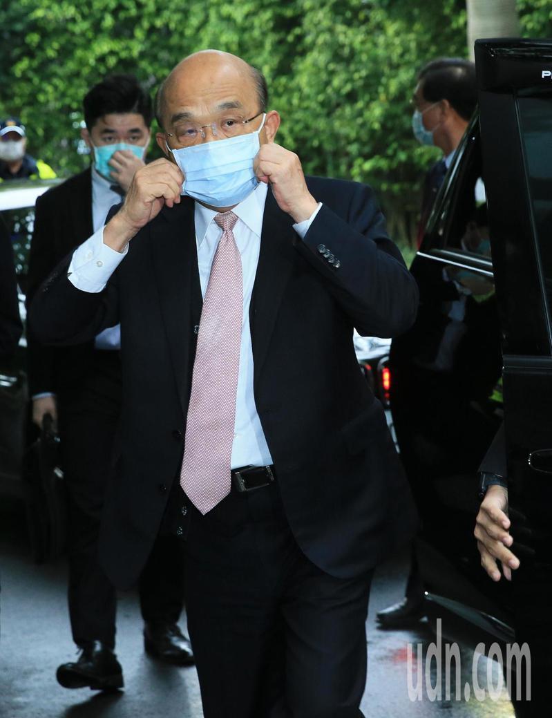 行政院長蘇貞昌一早到立法院備詢。記者潘俊宏/攝影