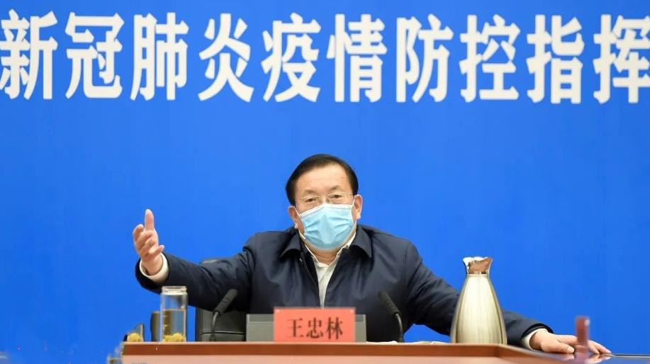 武漢市委書記王忠林5日強調,「要確保疫情防控不因解封出現反彈逆轉」。(長江日報)