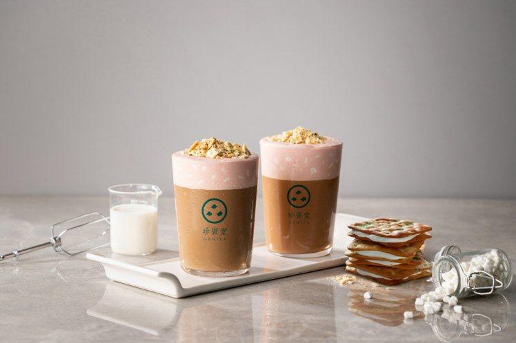 珍蜜堂「蔥餅牛軋糖奶茶」,將團購美食化身夢幻奶茶,鹹甜滋味新登場。圖/珍蜜堂提供