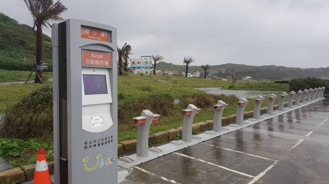 石門白沙灣YouBike站早已在2月完成,卻遲遲無法通電使用,民眾直呼根本是假的...
