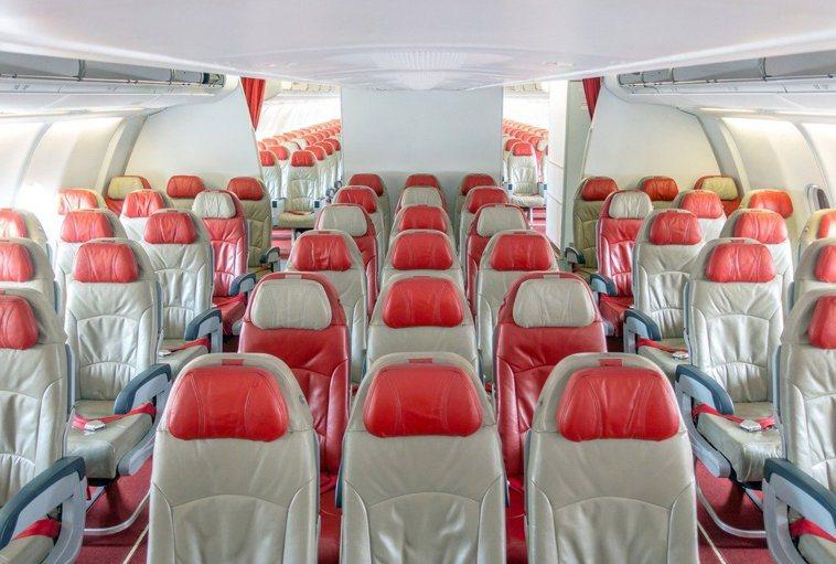 飛機座位圖示意圖。 圖/ingimage