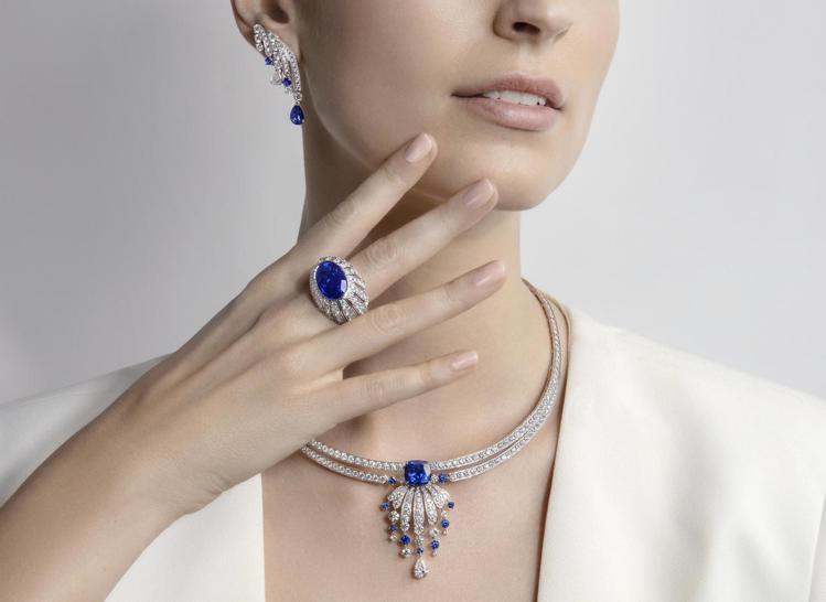 PIAGET,Desert Minerals「鑽石面紗」藍寶石頂級珠寶鑽石項鍊與...