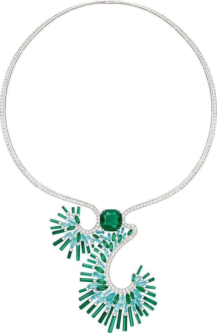 PIAGET,Sunlight Escape祖母綠頂級珠寶鑽石項鍊,2,900萬...
