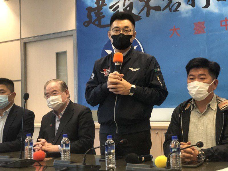 國民黨主席江啟臣拜訪台中市議會,他說改革過程「一定會有痛!」記者陳秋雲/攝