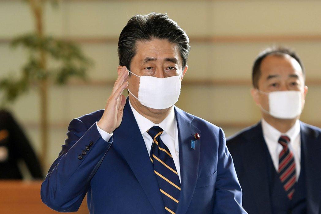 日本首相安倍晉三7日正式宣布東京、大阪等七個地區進入緊急狀態。圖/美聯社