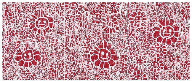 村上隆 x MADSAKI,《MADSAKI Flowers Red三聯畫》,估...