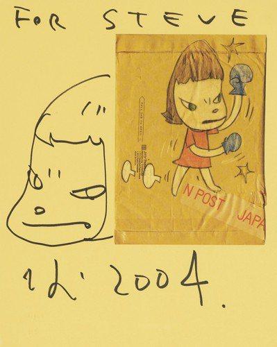 奈良美智,《無題》,估價美金6,000元起。圖/佳士得提供