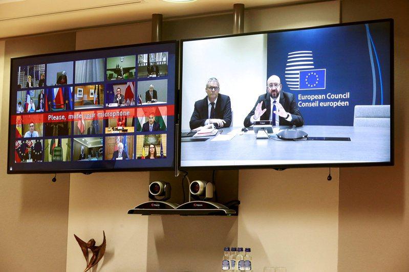 歐盟財長7日舉行視訊會議,商談緩解經濟衝擊的各項措施。路透
