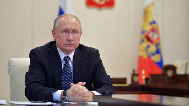 俄羅斯總統普亭。歐新社