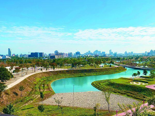 水湳經貿園區的中央公園,將扮演「台中綠肺」,提供市民遊憩新去處。