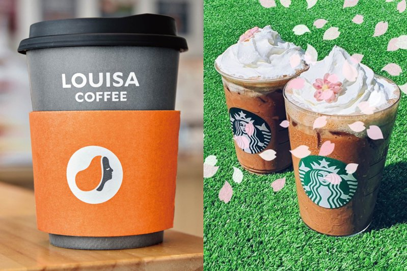 圖/擷取自路易莎咖啡Louisa Coffee(品牌總部)、星巴克咖啡同好會(starbucks coffee)