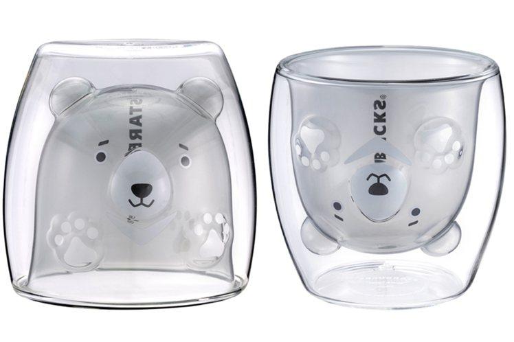 黑熊造型雙層玻璃杯5/6上市,售價新台幣650元。圖/星巴克提供