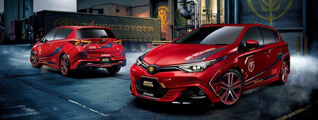 夏亞專用Toyota Auris II。 摘自Toyota