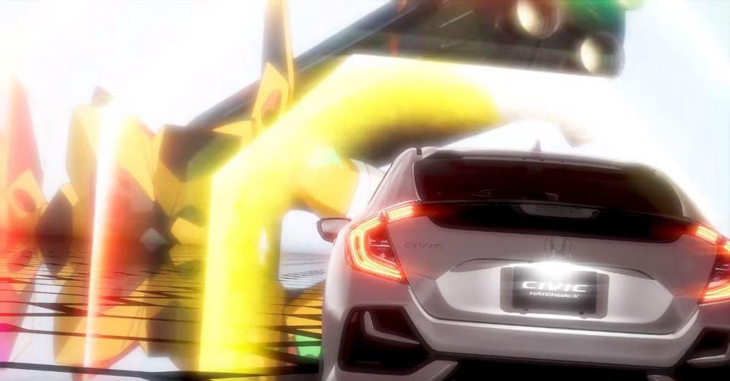 Civic衝擊AT力場的畫面。 摘自Honda