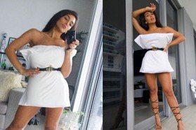 居家防疫仍性感時尚!歐美部落客發起「枕頭裙挑戰」 待在家也要拍美照當網美