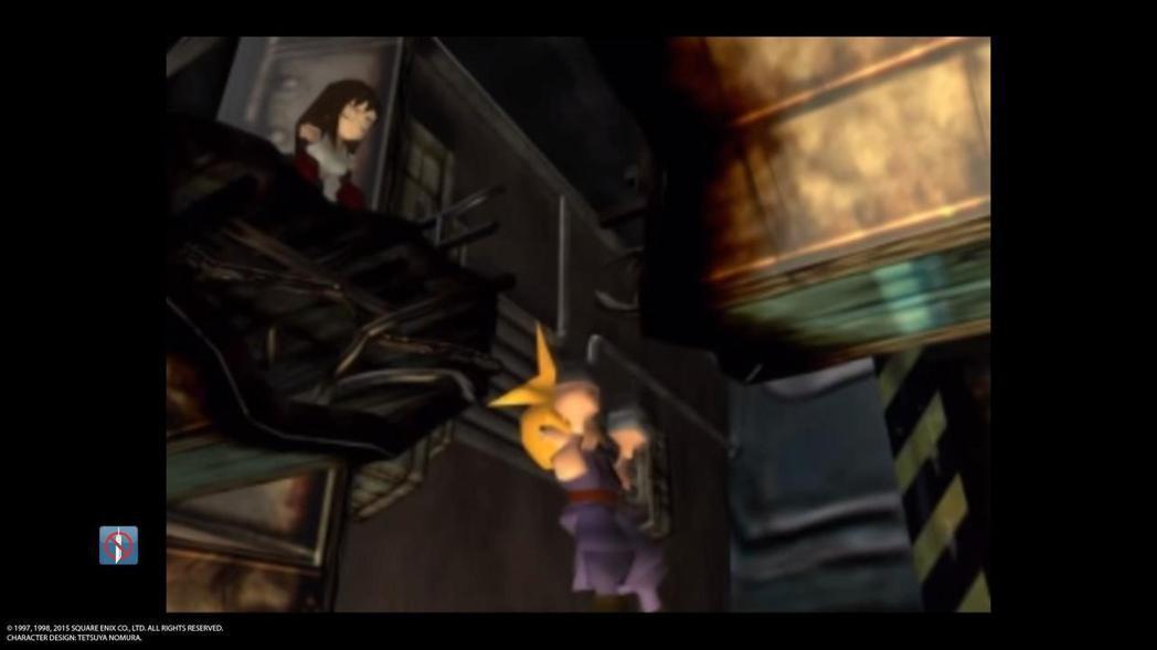 因爆炸而掉落到貧民窟的克勞德。