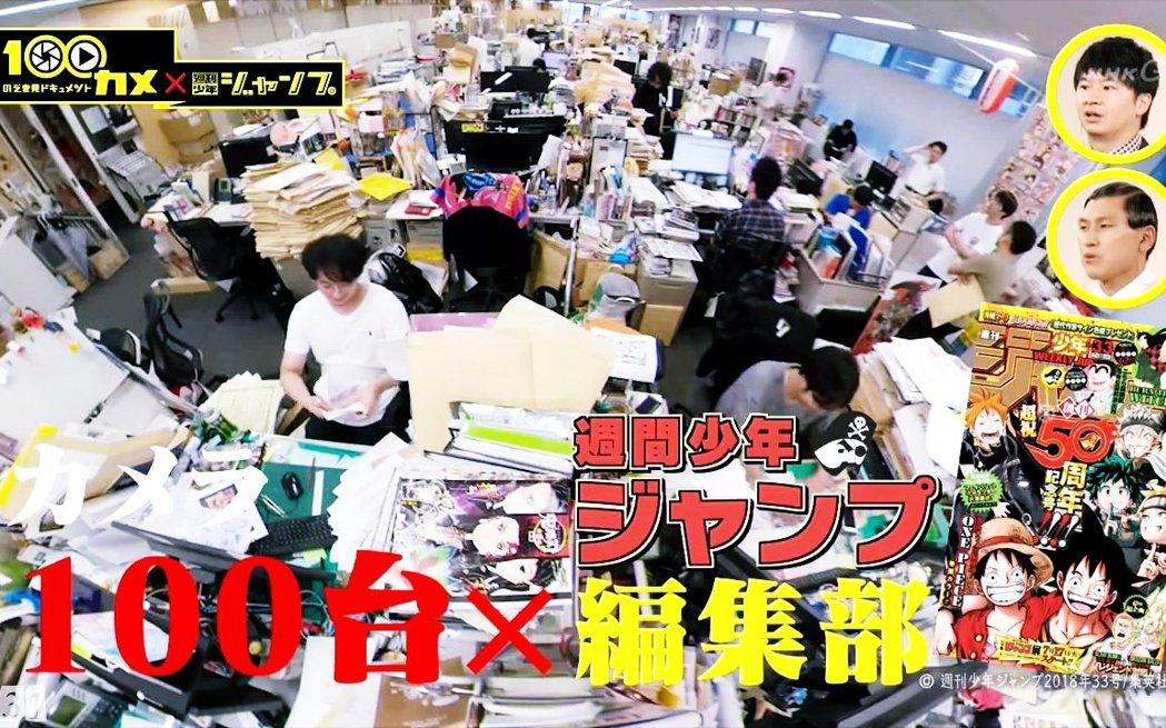 圖為NHK製作《のぞき見ドキュメント100カメ》紀錄片節目截圖,拍攝少年JUMP...