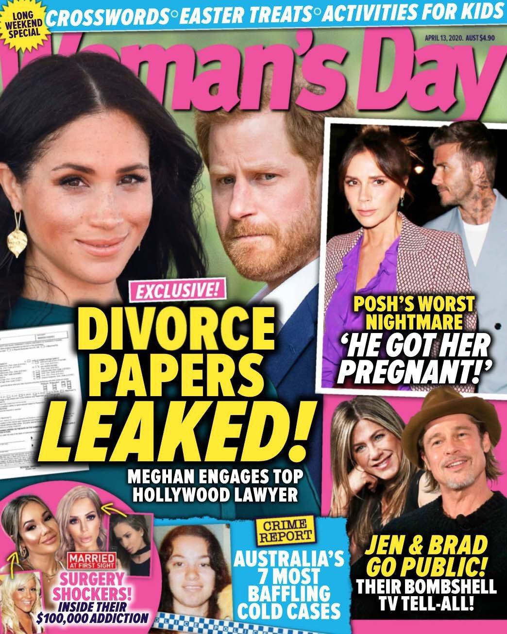 梅根與哈利被唱衰要離婚,還指文件已曝光。圖/Woman's Day