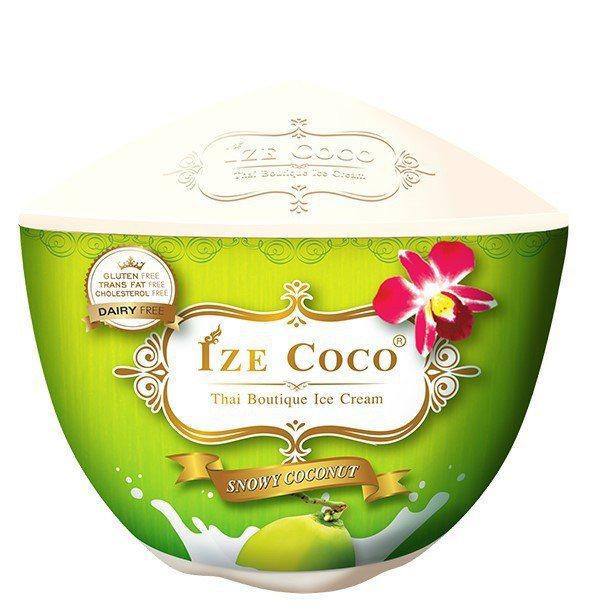 泰國Ize Coco經典椰子冰淇淋,售價99元、5月19日前嘗鮮價89元。圖/7...