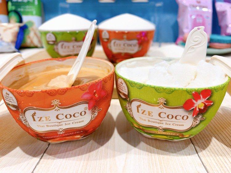 7-ELEVEN首度引進泰國Ize Coco兩款熱門冰品,包裝容器仿造椰殼造型,...