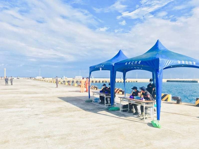 南沙太平島在太平碼頭設有檢疫站。圖/東南沙分署提供
